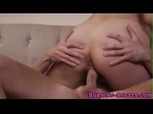 Kinky busty babe sucks and rides cock