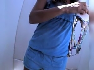 Slim amateur teen gets caught changing clothes on hidden cam