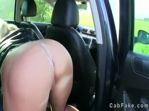 Blonde gets fucked and ass cumshot in fake taxi free