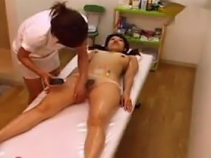 Sexy Japanese Girl Gets A Massage