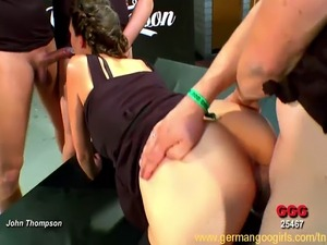 Viktoria the sexy brunette cock expert joined an orgy! Today is definitely...