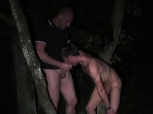 French gay dudes have hardcore outdoor anal fuck