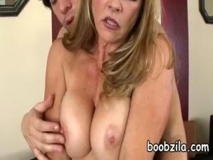 MOM big breasted MILF gets fucked free