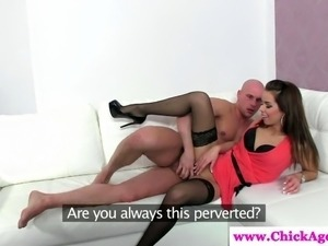 Casting agent gets a creampie she wanted