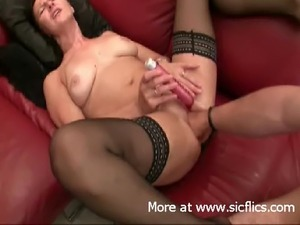 Fisting the wifes gaping pussy till she orgasms