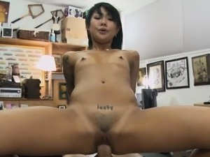 Asian Amateur Riding Dick In Pawn Shop Office