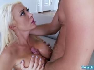 Classy Summer Brielle pussy destroyed after great titty fuck