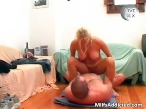 I fucked my hot blonde wife in mouth part6