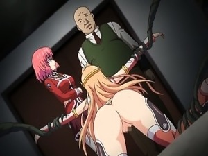 Caught hentai girl gets brutally fucked
