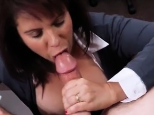 Amateur busty Milf sells her husbands stuff for a bail