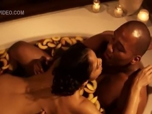 Watch sexy diva Maya Gilbert getting dirty in the bathtub with her lover