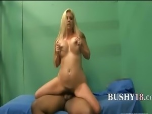 glamorous hairy blonde fucked in prison
