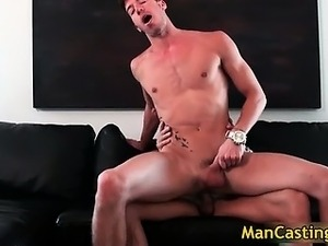 Sexy hunk Chris takes fat rigid cock part5