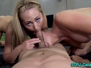 Real amateur college coeds blow dick