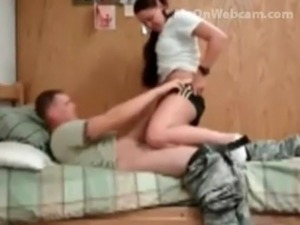 US Army Guy Fucking His College Horny Girlfriend In Dorm wow free