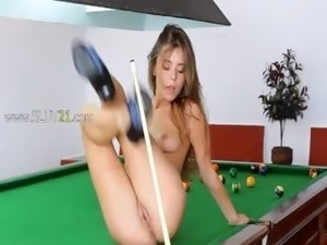 The most erotic model on billiards