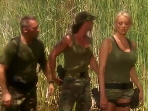 Hard fucking three some nearby A Spicy Blonde Soldier Stormy Daniels