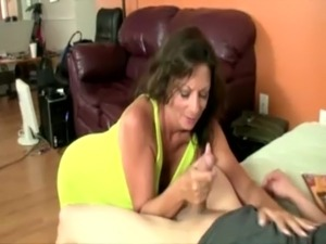 Busty milf babe tugging cock and cant get enough free