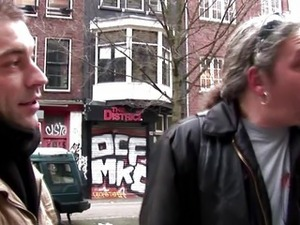 Real dutch hooker sucks a tourists cock