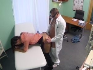 Czech Doctor intimately examines a married woman