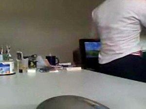 Indian mumbai boss enjoying secretary on office table