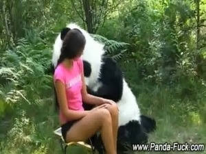 Fetish teen gets it on with toy panda free