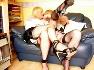 Two crossdressers amateur fun