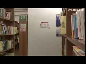 schoolgirl drilled by library geek 11 free
