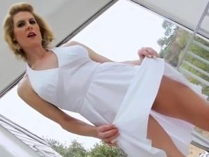 Huge boobs tranny and hot babe enjoyed by horny guy