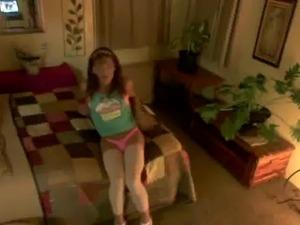 Cougar Crossdresser in High heels and pink thong