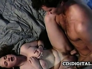 Stacy Lords - Famous Retro Pornstar Riding A Cock