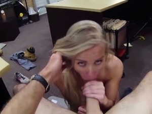 Hot blonde sells her car and her pussy