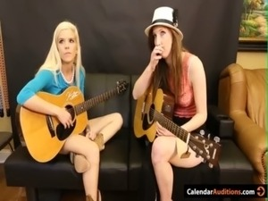 Hot Blonde Seduces Cute Teen At Audition free
