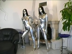 Sexy twins inside silver