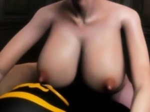 Busty animated hooker gives oral