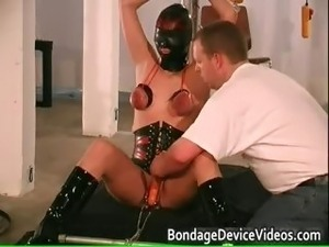 Chubby babe is bound and spanked to test part4