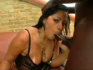 Brazilian Marcela in some lesbo action then Nathan Threat takes her for some...