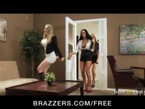 Four Hot big-boob office sluts  ... free