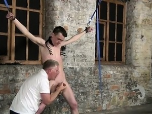 Gay fuck Sean McKenzie is strapped up and at the grace of to