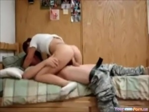 amateur wife welcomes husband from war free