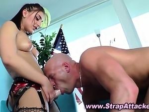 Strapon fucking domina bitch