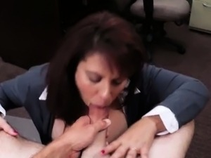Big boobs Milf sells her husbands stuff for the bail