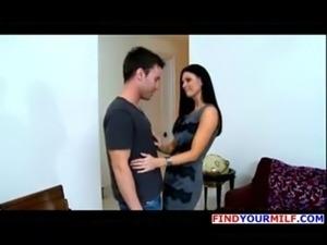 Mature MILF Enjoys Her Younger Man In Black Stockings free