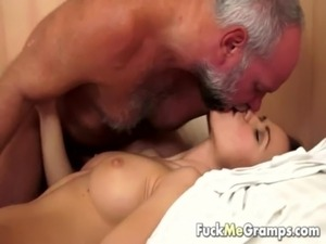 Grandpa has an appetite for young pussy free