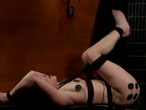 Katie St Ives having Strapon banged inside Kinky Electro lesbie female...