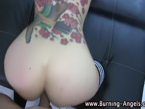 Fetish loving emo gets fucked after cock sucking pov style