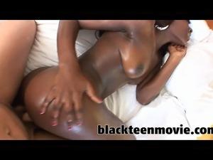 ebony teen slut fucking white cock