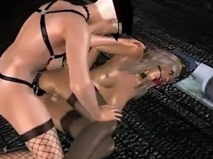 Two 3D babes sucking on Captain America\'s hard cock