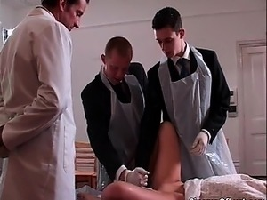 See how this doctor shoves this big toy part4