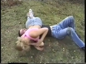 rare mixed wrestling with the beautiful but retired Luzia in jeans free